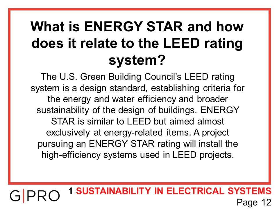 What is ENERGY STAR and how does it relate to the LEED rating system