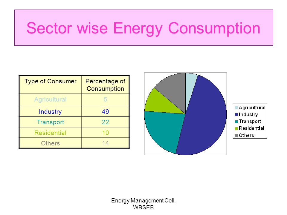 Sector wise Energy Consumption