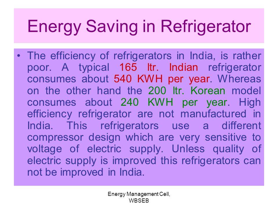 Energy Saving in Refrigerator