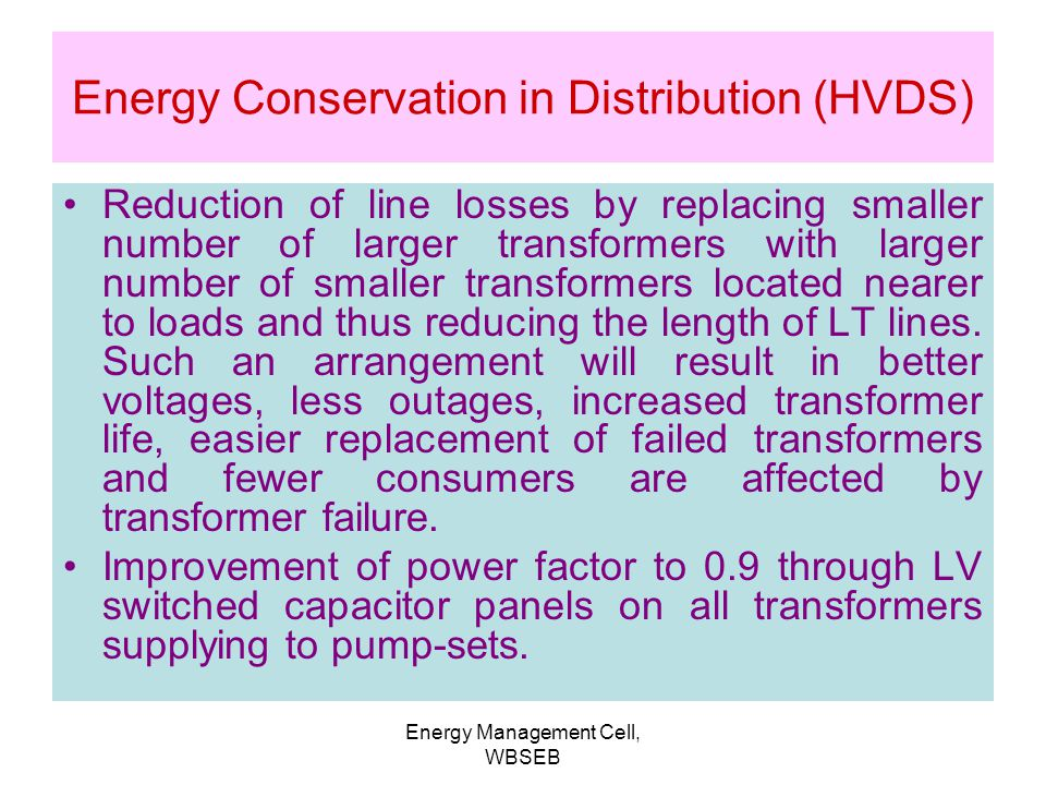 energy conservation in transformer pdf