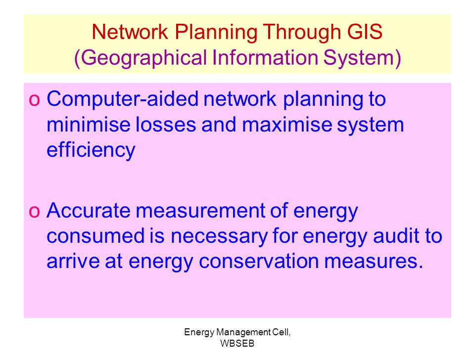 Network Planning Through GIS (Geographical Information System)