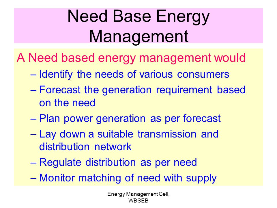 Need Base Energy Management