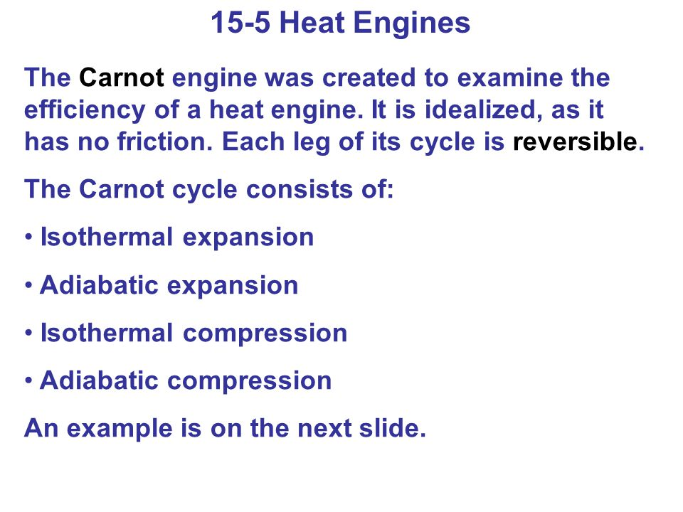 15-5 Heat Engines