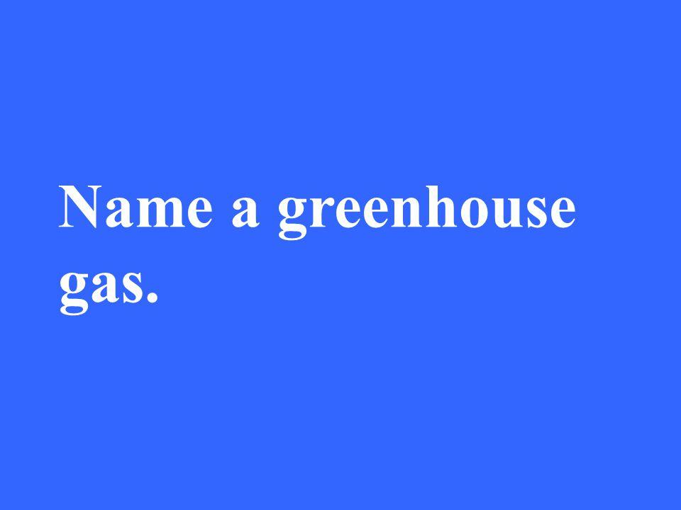 Eleanor M. Savko 3/31/2017 Name a greenhouse gas.
