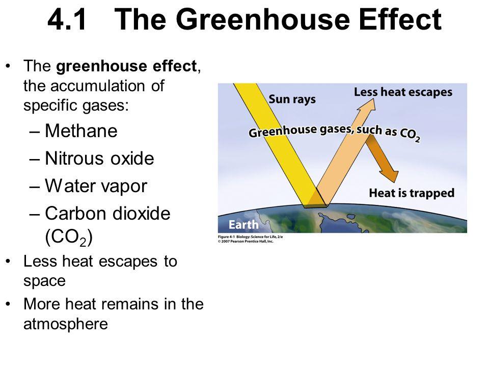 4.1 The Greenhouse Effect Methane Nitrous oxide Water vapor
