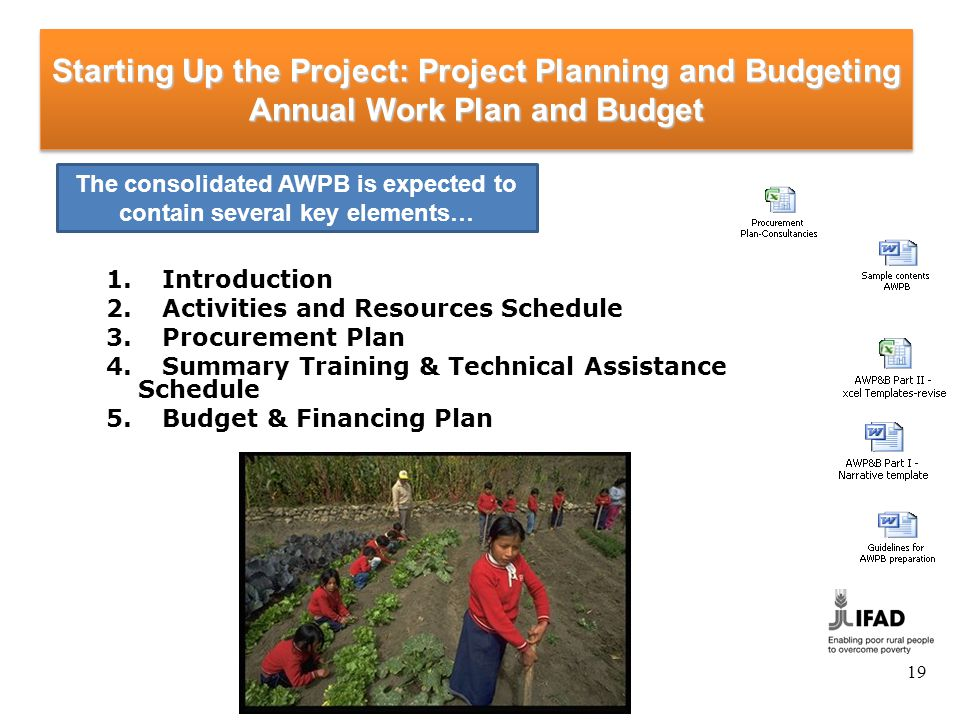 Starting-up the Project: Project Planning and Budgeting Annual Work Plan and Budget Review