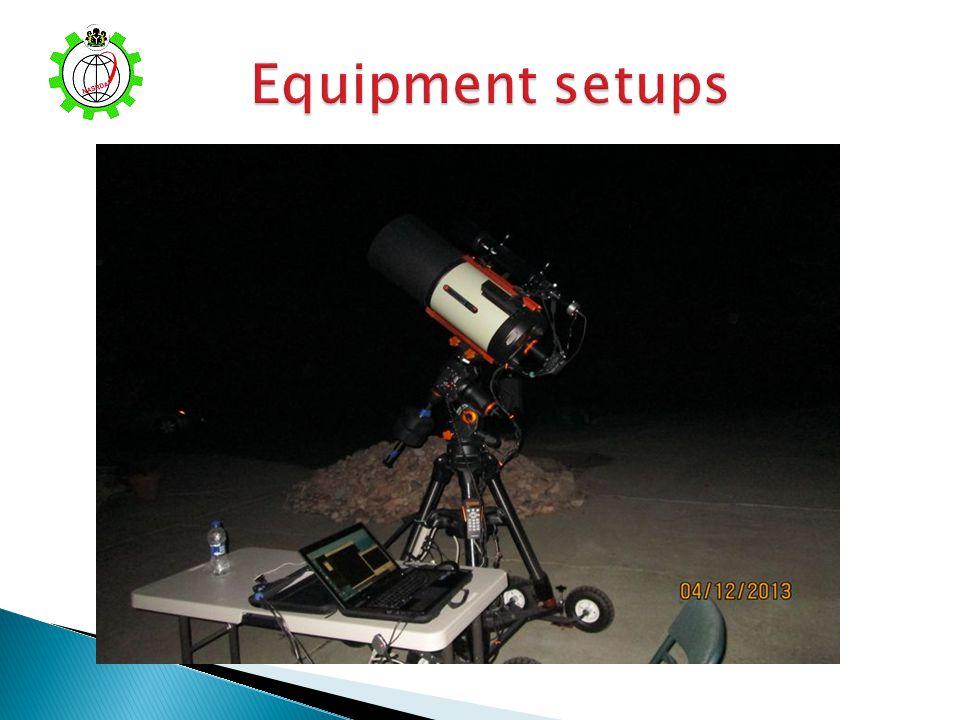 Equipment setups
