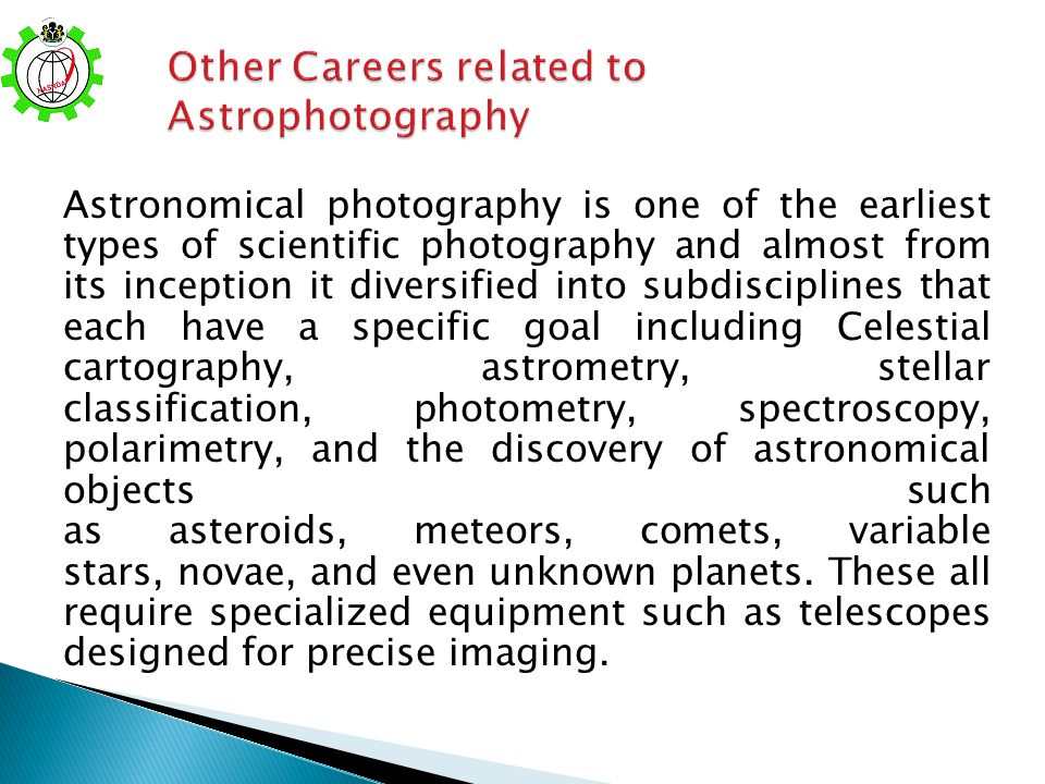 Other Careers related to Astrophotography