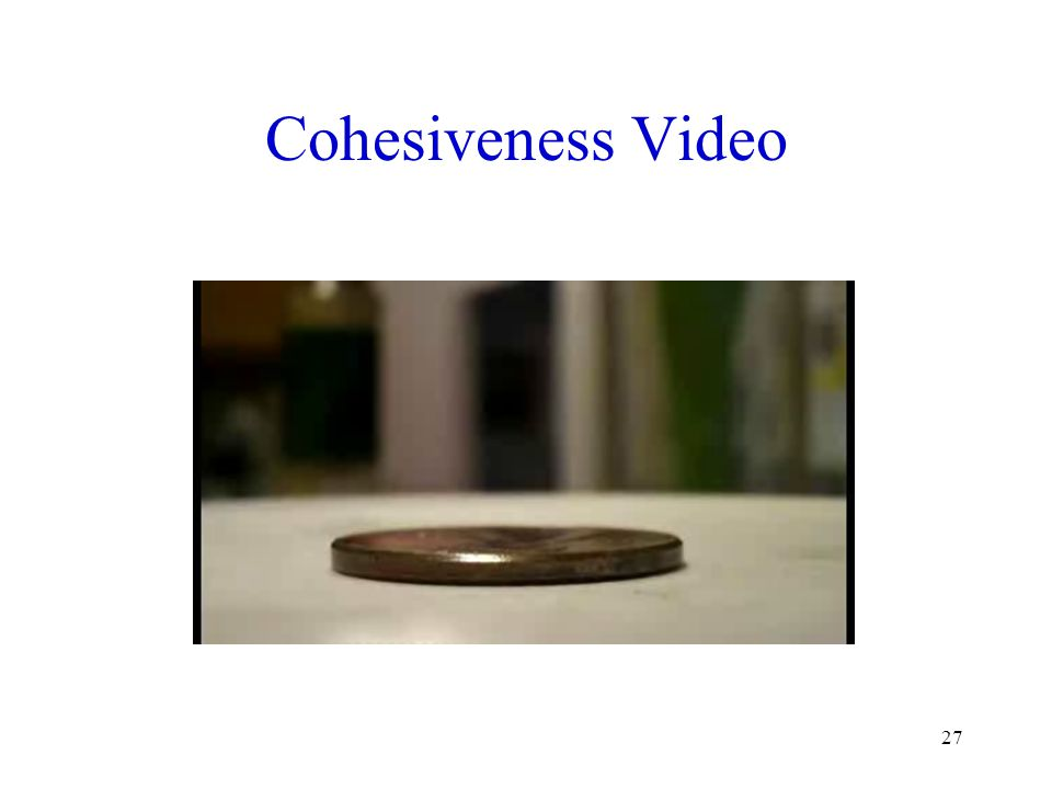 Cohesiveness Video Source: http://www.youtube.com/watch v=8O8PuMkiimg