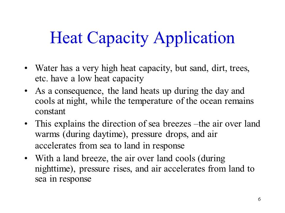 Heat Capacity Application