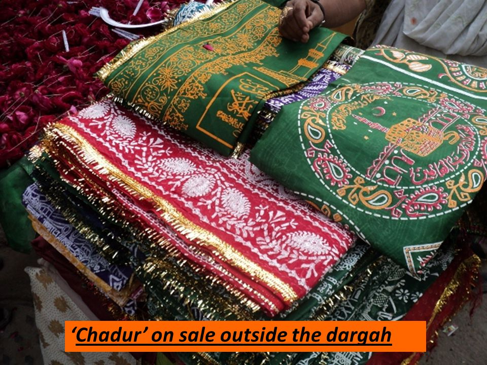 'Chadur' on sale outside the dargah