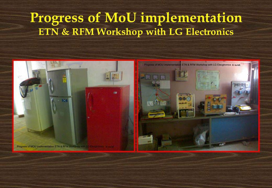 Progress of MoU implementation ETN & RFM Workshop with LG Electronics