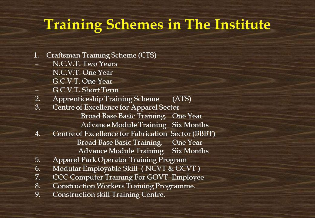 Training Schemes in The Institute