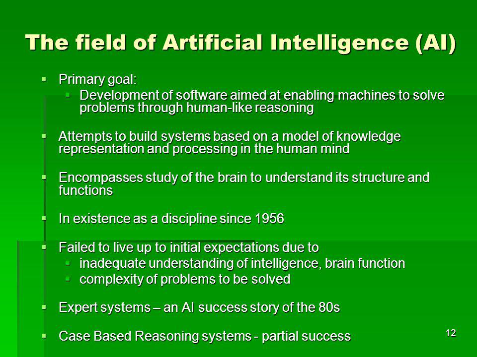 The field of Artificial Intelligence (AI)