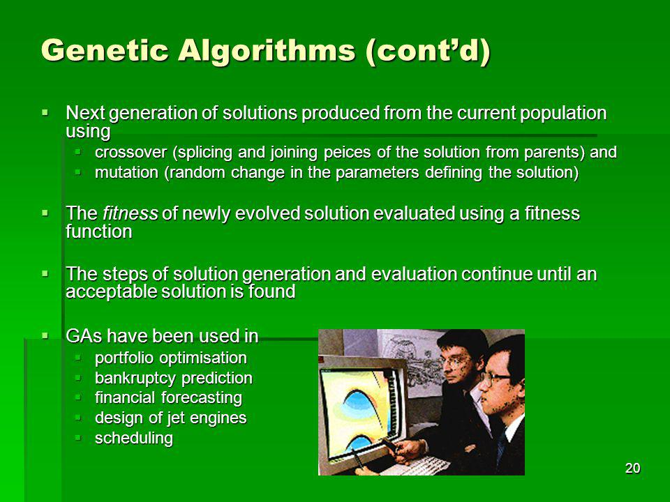 Genetic Algorithms (cont'd)