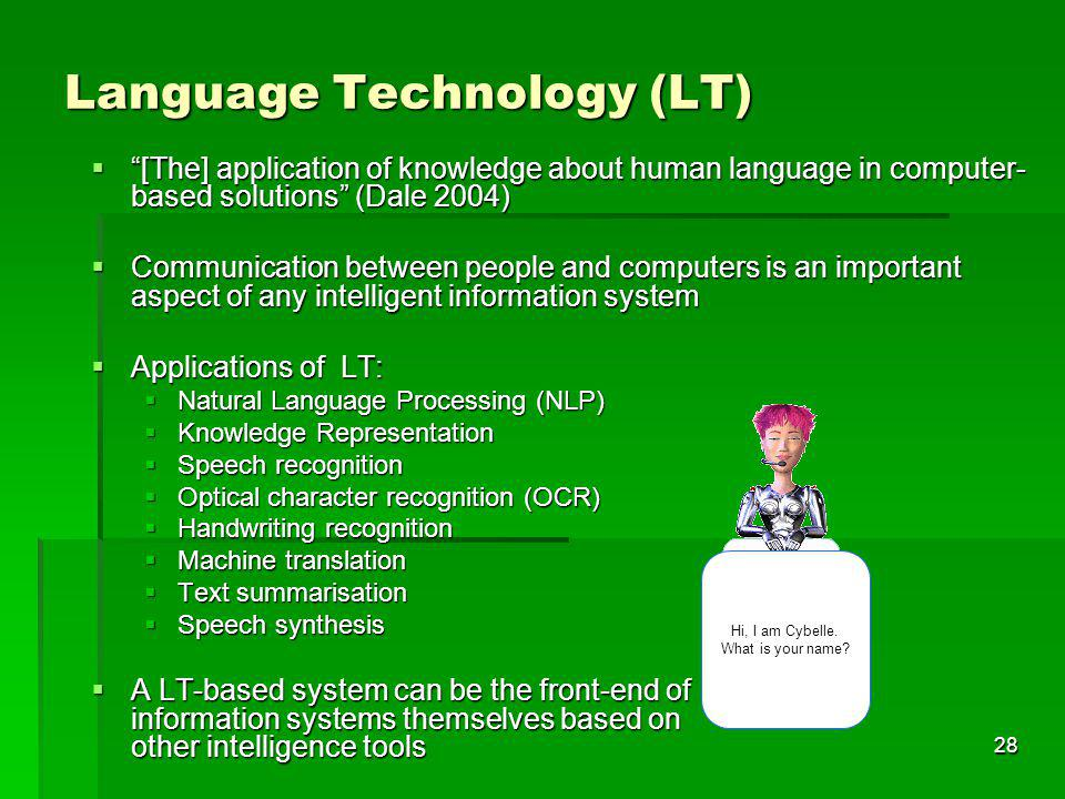 Language Technology (LT)