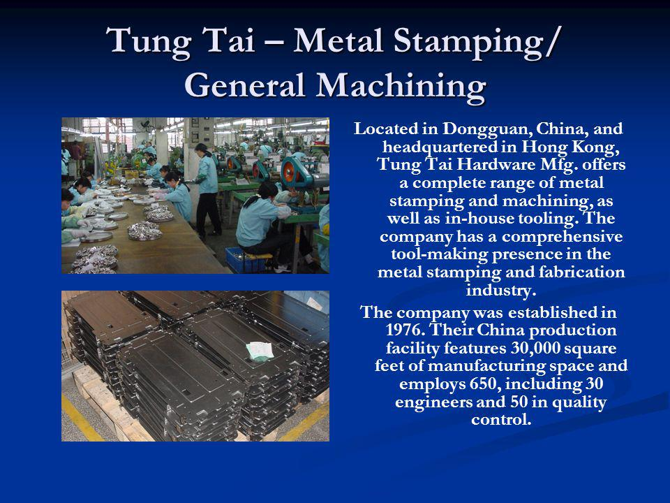 Tung Tai – Metal Stamping/ General Machining