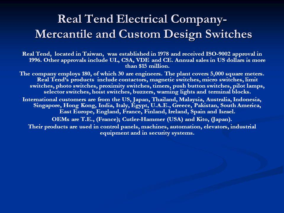 Real Tend Electrical Company- Mercantile and Custom Design Switches
