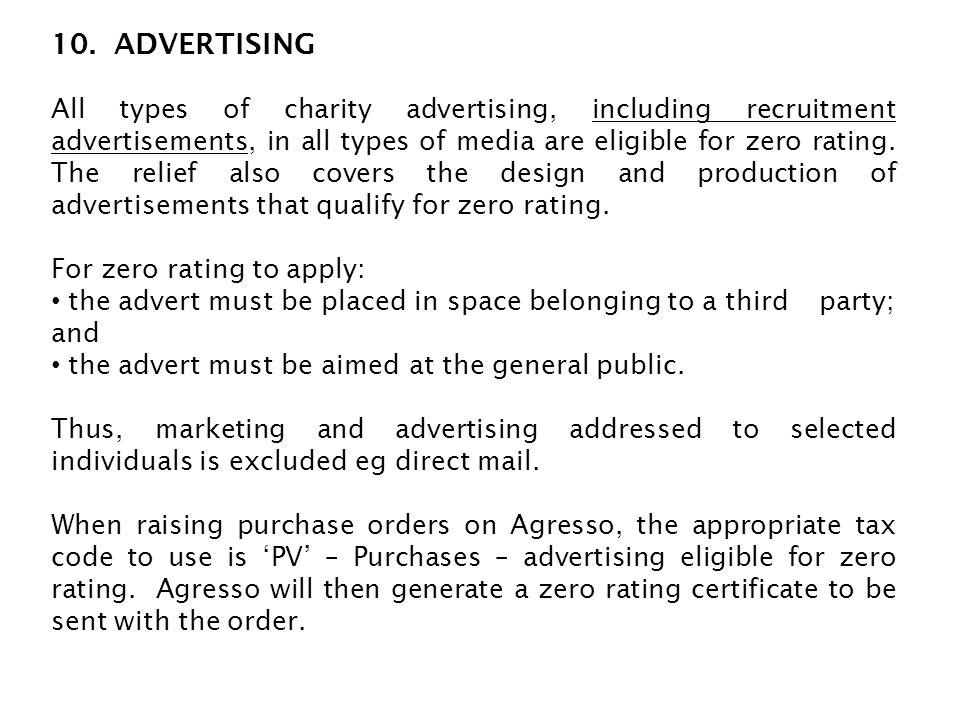 10. ADVERTISING