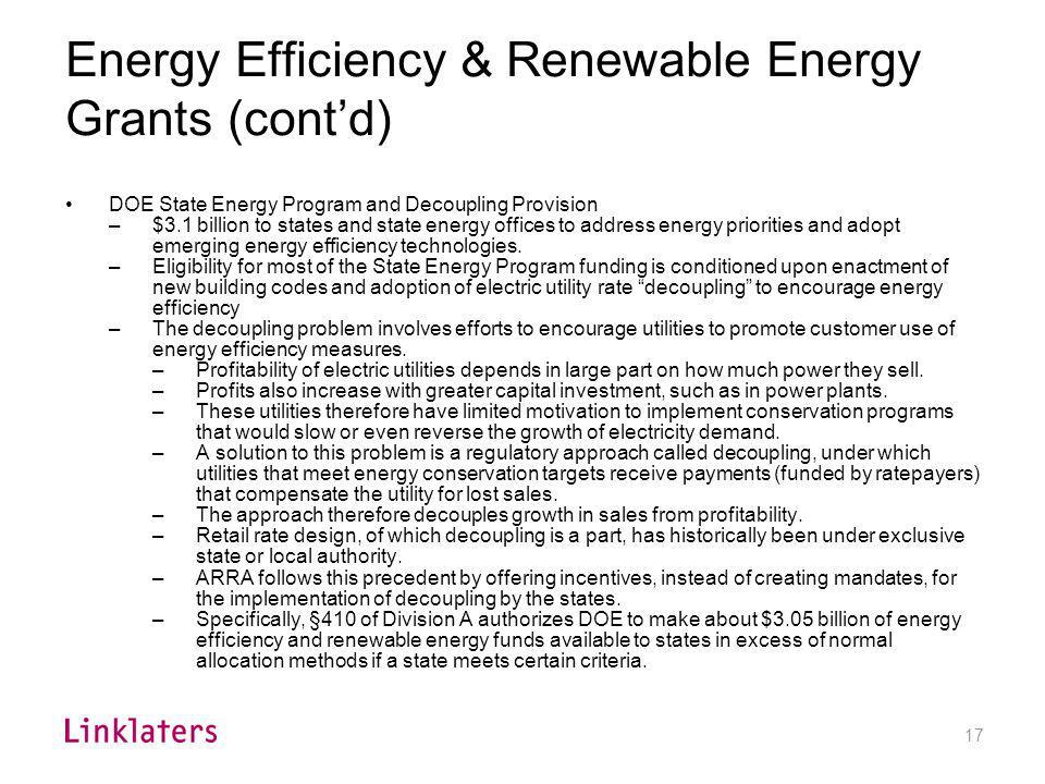 Energy Efficiency Grants/Loans