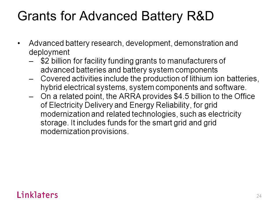 Renewable energy and energy efficiency R&D
