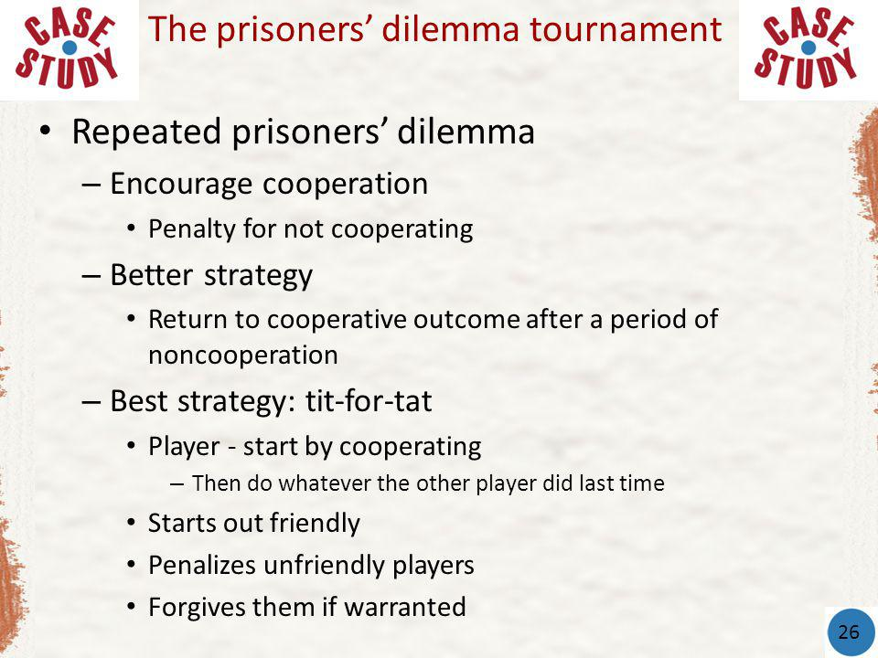 The prisoners' dilemma tournament