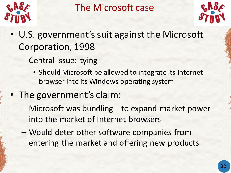 U.S. government's suit against the Microsoft Corporation, 1998