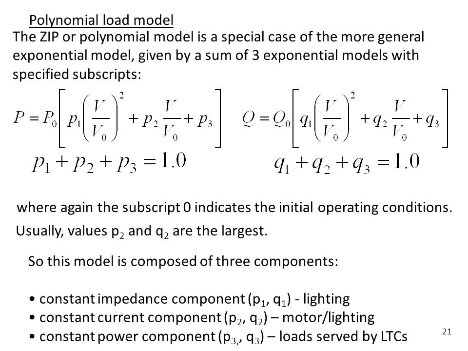 Polynomial load model