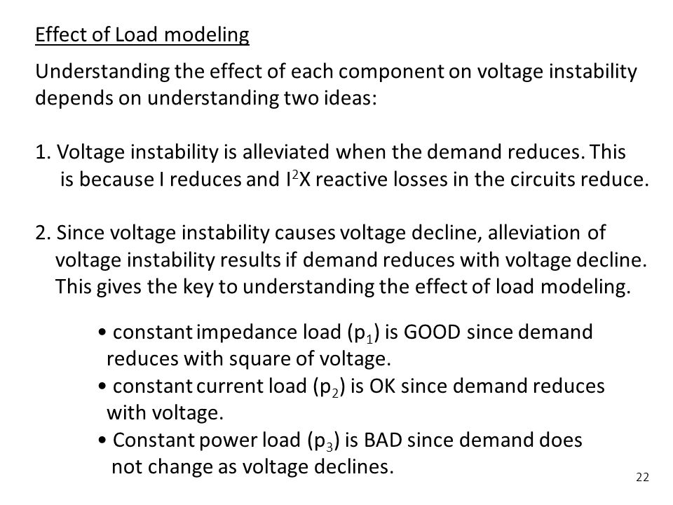 Effect of Load modeling