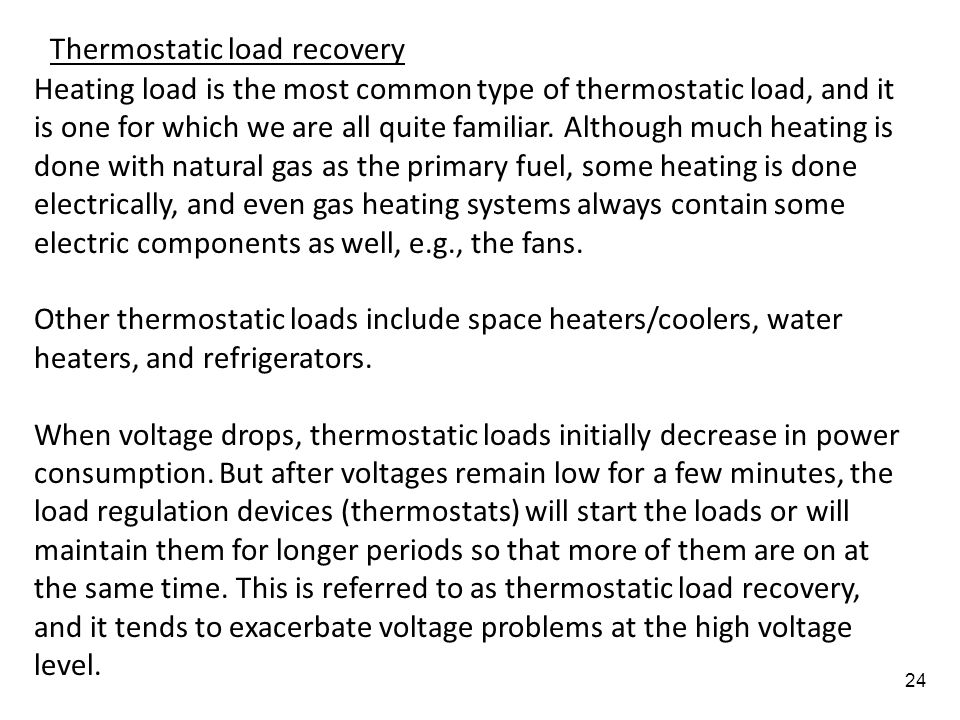 Thermostatic load recovery