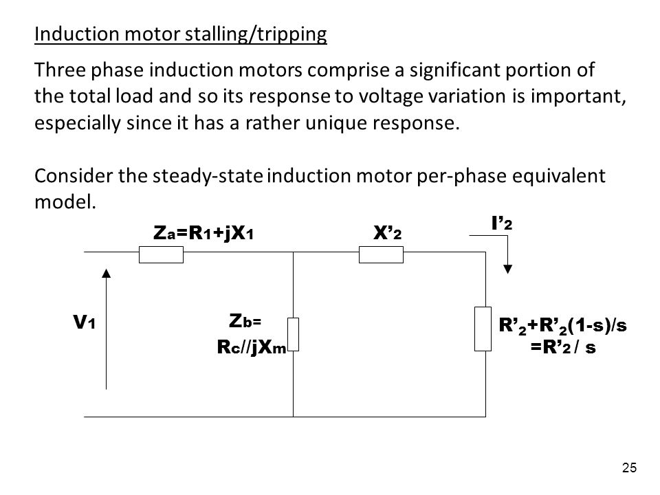 Induction motor stalling/tripping