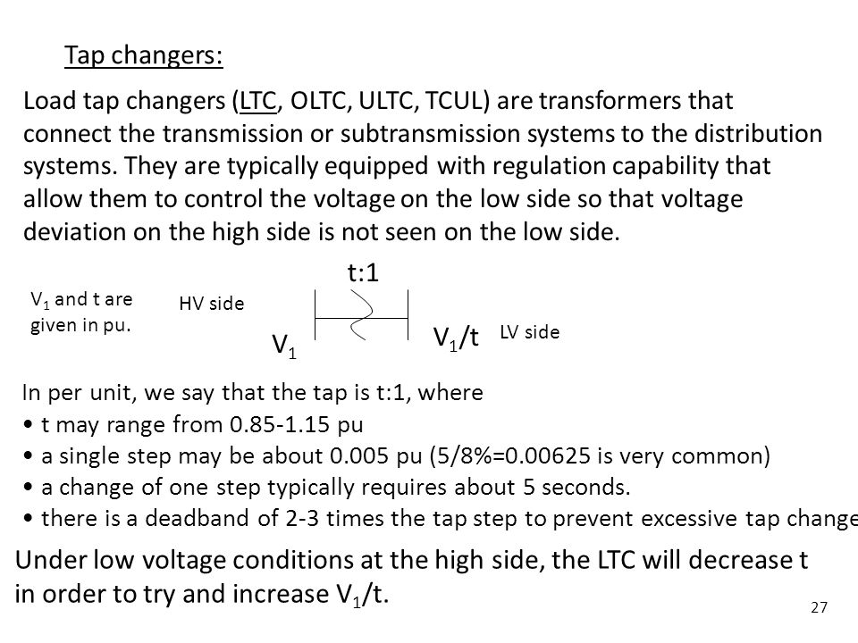 Under low voltage conditions at the high side, the LTC will decrease t