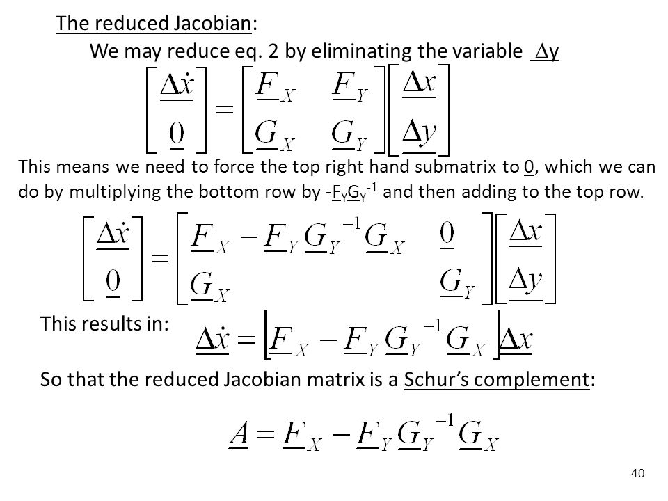 We may reduce eq. 2 by eliminating the variable y