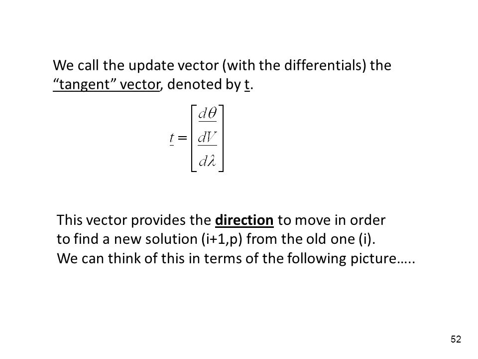 We call the update vector (with the differentials) the