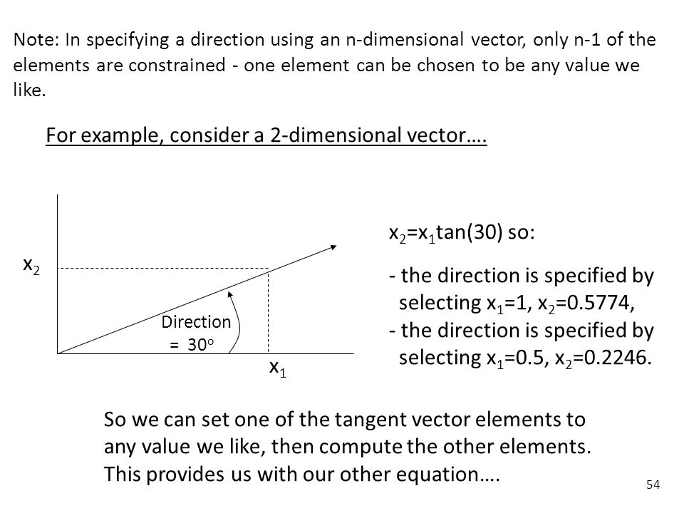 For example, consider a 2-dimensional vector….