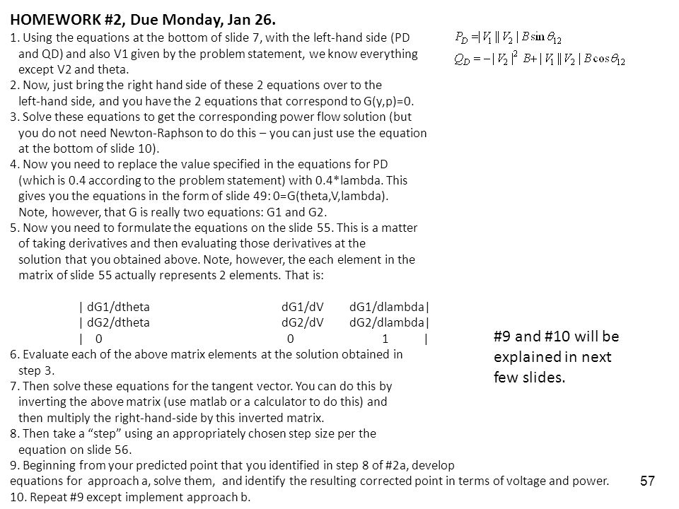 HOMEWORK #2, Due Monday, Jan 26.