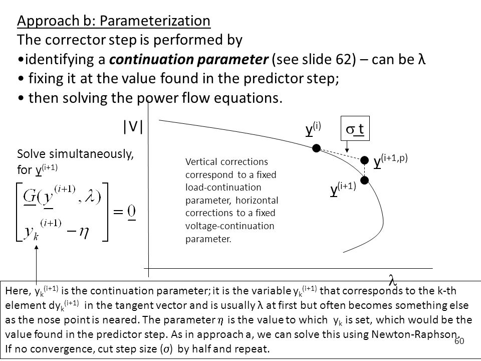 Approach b: Parameterization The corrector step is performed by