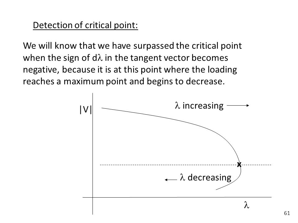 Detection of critical point: