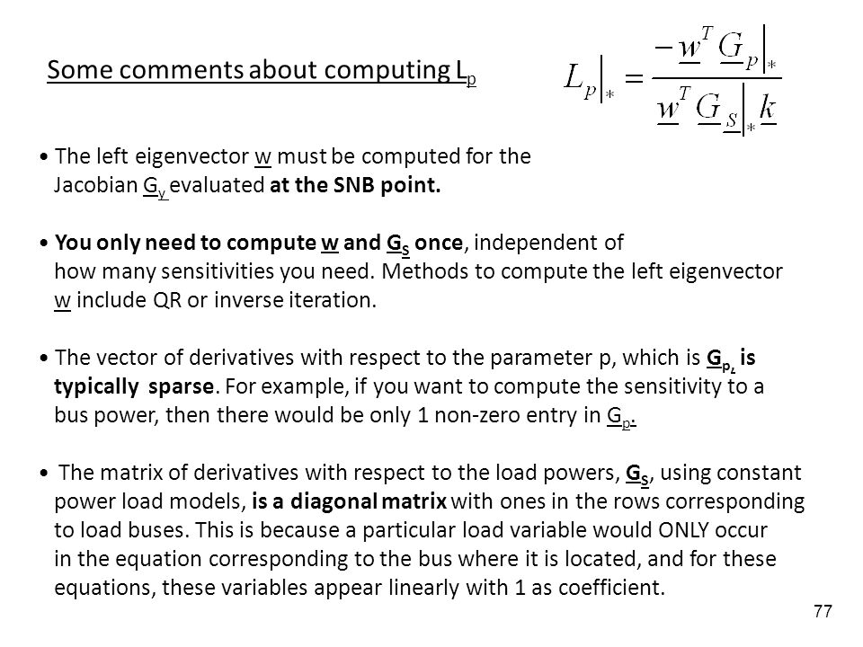 Some comments about computing Lp