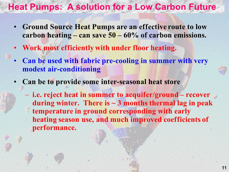 Heat Pumps: A solution for a Low Carbon Future