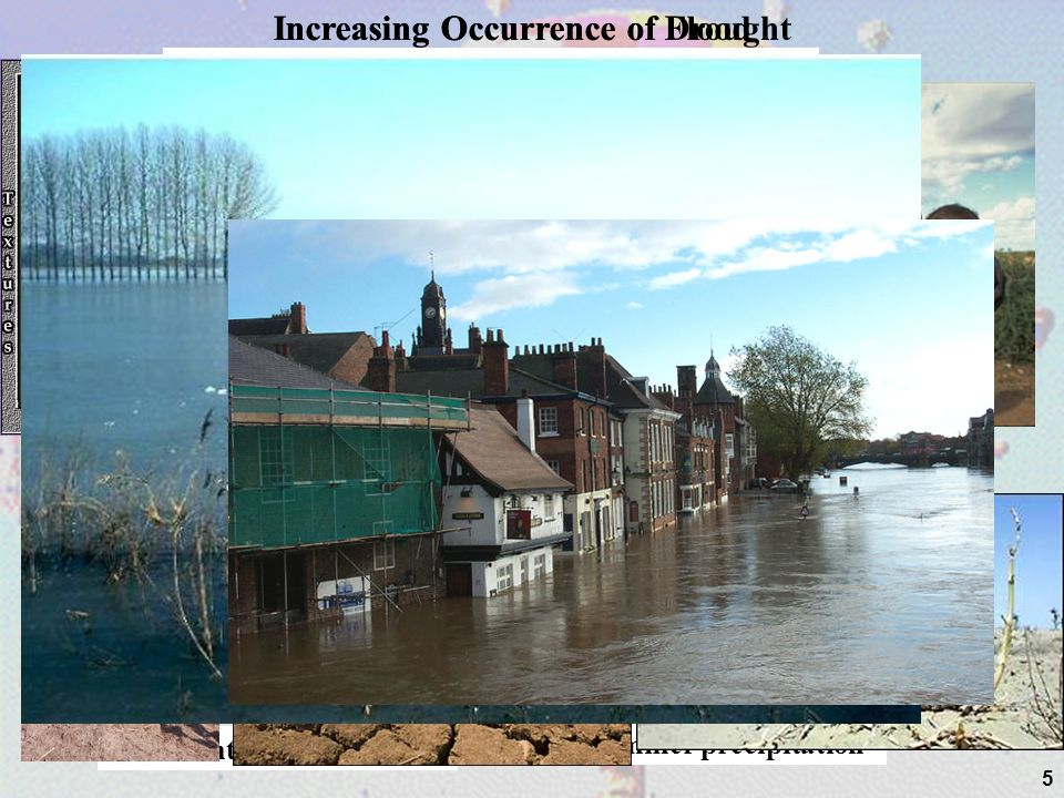 Increasing Occurrence of Flood Increasing Occurrence of Drought