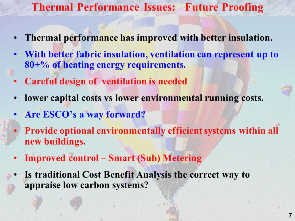 Thermal Performance Issues: Future Proofing