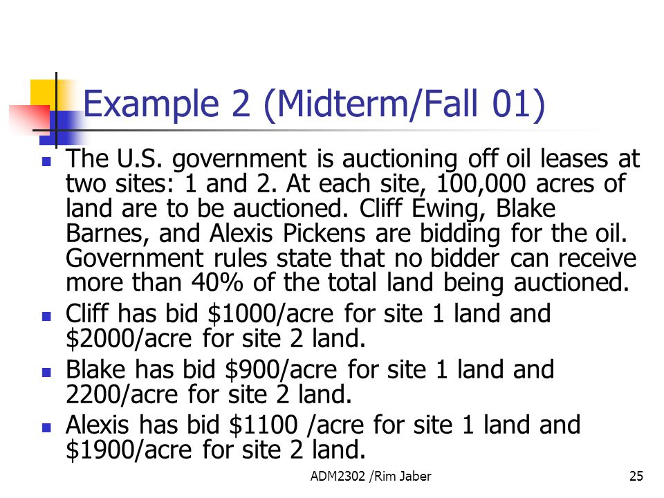 Example 2 (Midterm/Fall 01)