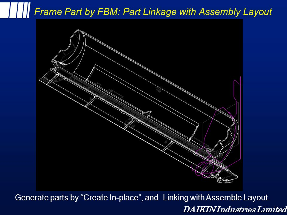 Frame Part by FBM: Part Linkage with Assembly Layout