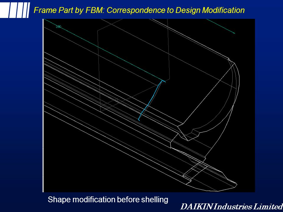 Frame Part by FBM: Correspondence to Design Modification