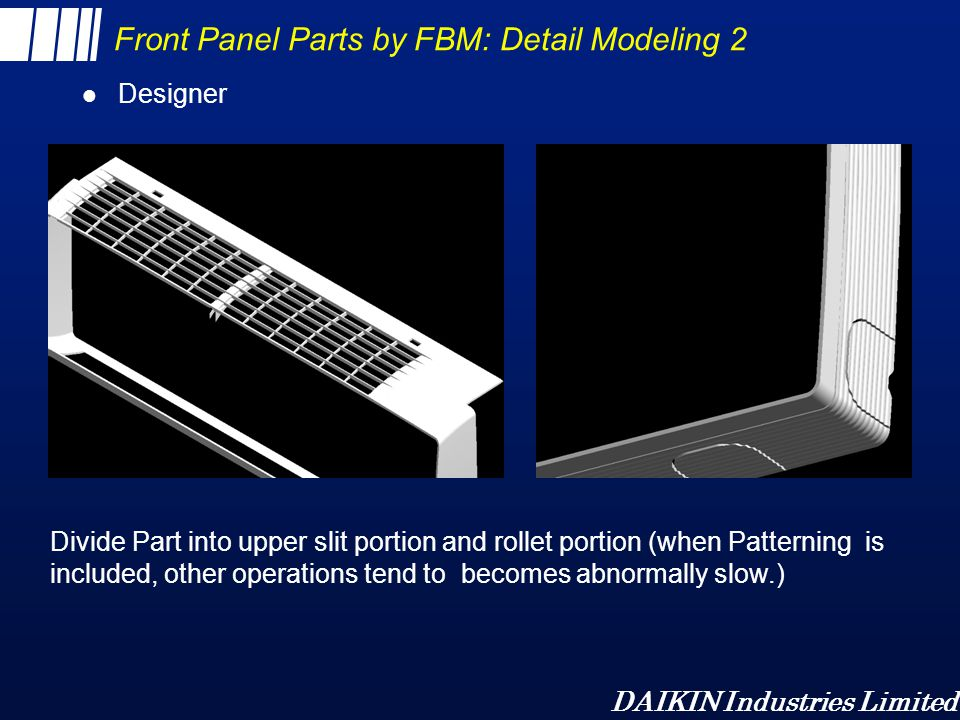 Front Panel Parts by FBM: Detail Modeling 2