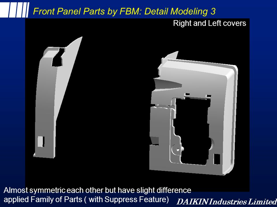 Front Panel Parts by FBM: Detail Modeling 3