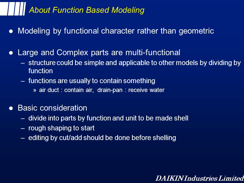 About Function Based Modeling