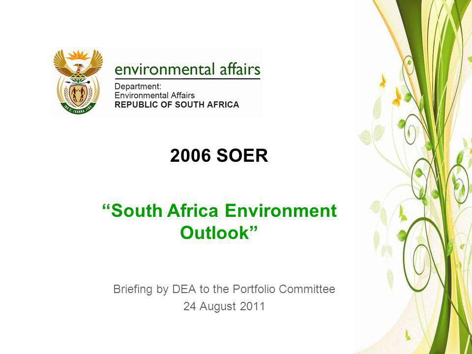 Briefing by DEA to the Portfolio Committee 24 August 2011