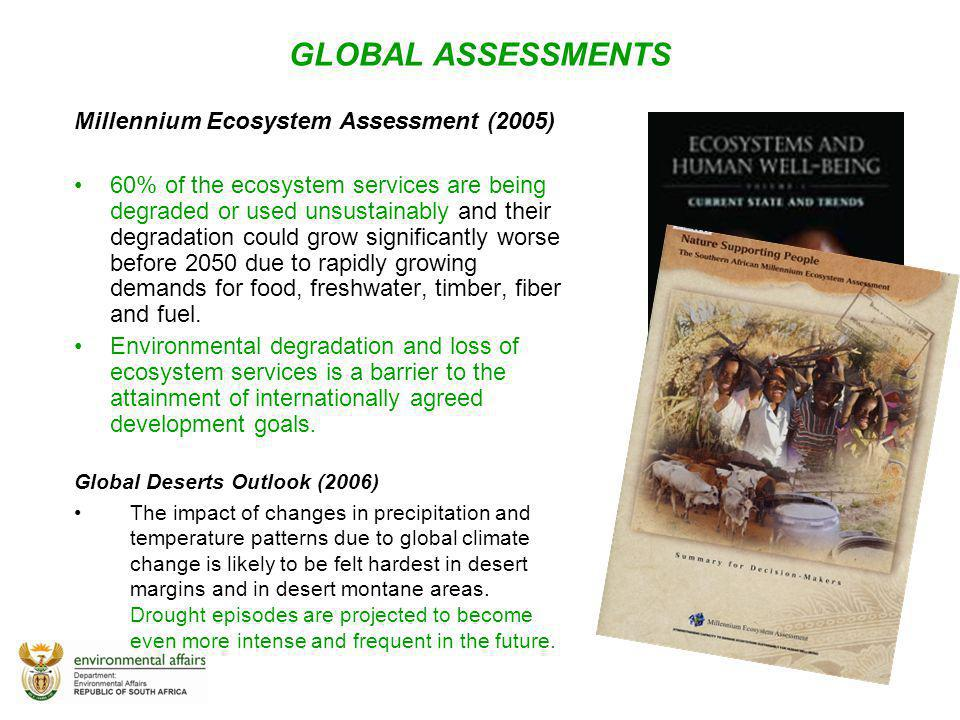 GLOBAL ASSESSMENTS Millennium Ecosystem Assessment (2005)